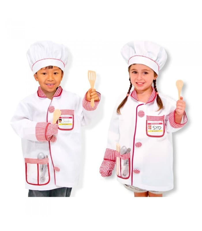 a074698dccf Con este disfraz de chef, tanto niños como niñas disfrutarán de el juego de  la imitación, recreando a los chefs más famosos. Con.