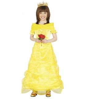 Disfraz de princesa Bella con tiara 1000316109 FIESTAS GUIRCA