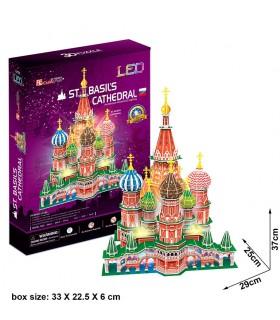 Puzzle 3d - Catedral de San Basilio L519h CUBIC FUN