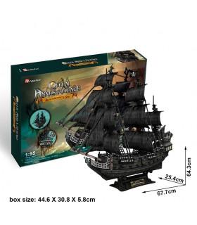 Puzzle 3d - Barco Venganza de la Reina Ana T4018h CUBIC FUN