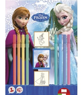Blister 2 sellos y rotuladores 26883 FROZEN MULTIPRINT