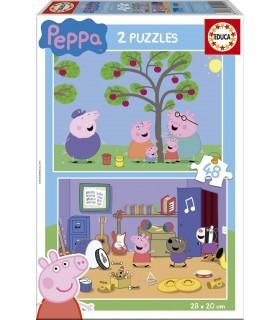 Set de 2 puzzles de 48 piezas de Peppa Pig 15920 PEPPA PIG EDUCA