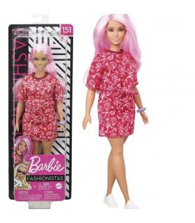 Muñeca Fashionistas Doll - Bandana Shirt Dress GHW65 BARBIE