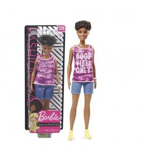 Barbie fashionista pelo moreno rizado GHP98 BARBIE
