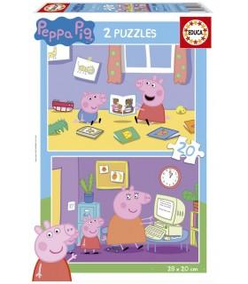Set de 2 puzzles 20 piezas 18087 PEPPA PIG EDUCA