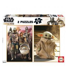Puzzle 2x500 piezas The mandalorian 18871 STAR WARS EDUCA