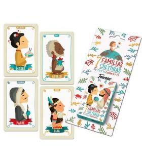 Baraja de cartas infantiles familias 7 culturas 10017012 FOURNIER