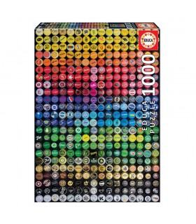 Puzzle 1000 piezas Collage chapas 19026 STAR WARS EDUCA