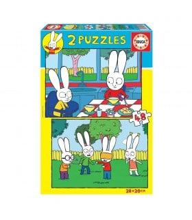 Puzzle 2x48 piezas 18891 PEPPA PIG EDUCA