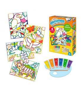Dessineo- Pintar por números selva 61012 DISET