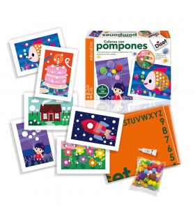 Colorea con pompones 63493 DISET