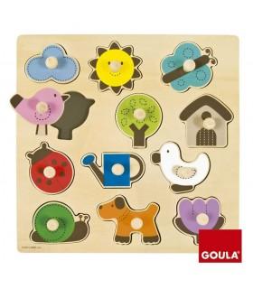 Puzzle silueta granja 53118 GOULA