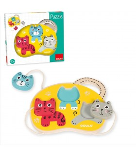 Puzzle 3 gatos 53460 GOULA