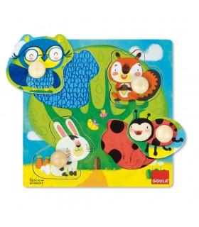 Puzzle animales del bosque 53462 GOULA