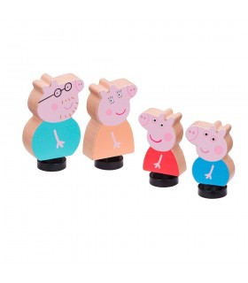 Pack de 4 Figuras de madera CO07207 PEPPA PIG BANDAI