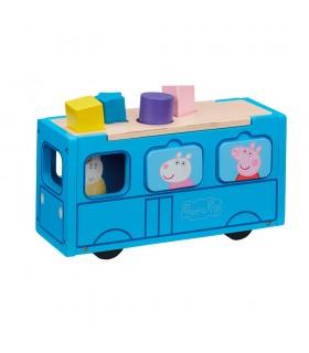 Autobus de cole de Madera CO07222 PEPPA PIG BANDAI