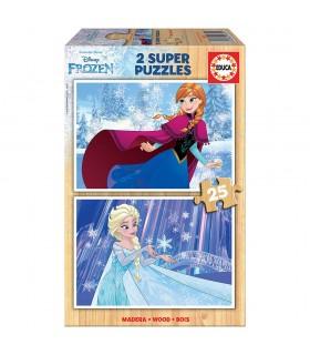 Puzzle 2x25 piezas Frozen 16801 FROZEN EDUCA