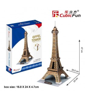 Puzzle 3d tower eifell 771C044 CUBIC FUN