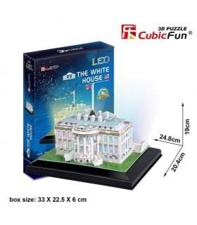 Puzzle 3d - La Casa Blanca 771L504 CUBIC FUN