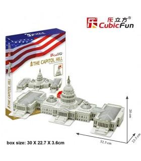 Puzzle 3d - Capitolio de Washington 771MC074 CUBIC FUN
