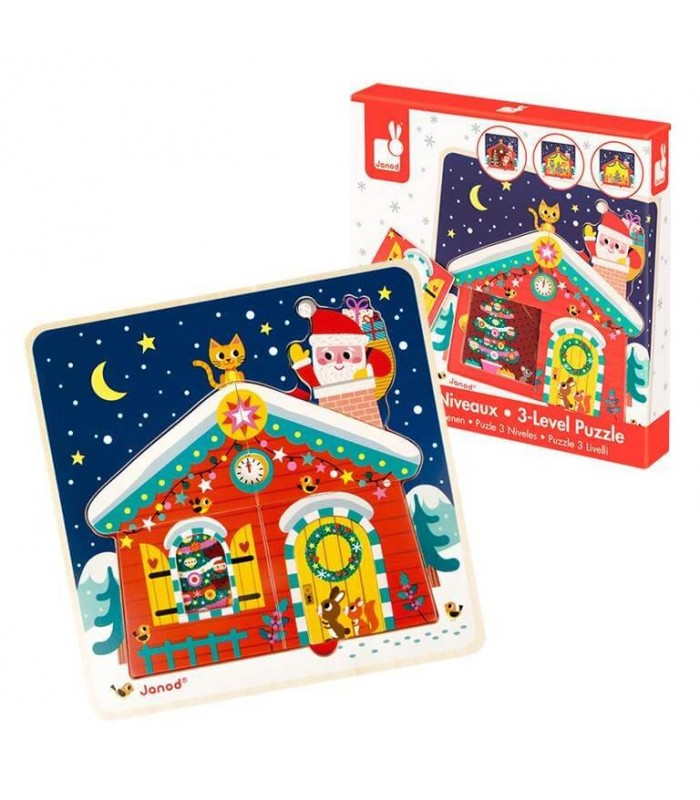 De Abracadabra Noche Navidad 60907020Janod Puzzle Evolutivo Juguetes n0k8OPwX