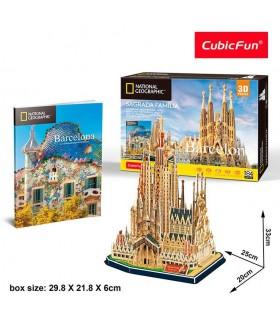 Cubic Fun - Puzzle 3D City Traveller de La Sagrada Familia DS0984 CUBIC FUN