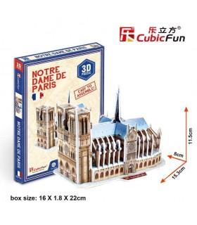 Cubic Fun Puzzle 3D de la Catedral de Notre Dame en París S3012h CUBIC FUN