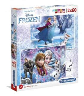 Puzzle 2 x 60 piezas Frozen 07119 FROZEN CLEMENTONI
