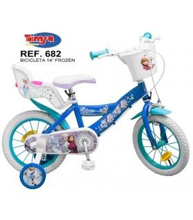 """Bicicleta niña 14"""" 682 FROZEN TOIMSA"""