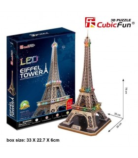 Puzzle 3d - torre Eiffel led 771L091 CUBIC FUN