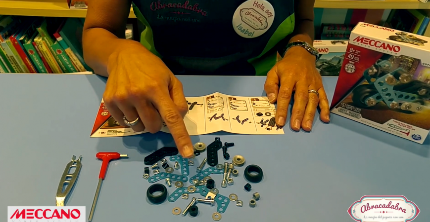 Actividades para niños Abracadabra Monta tu moto Meccano