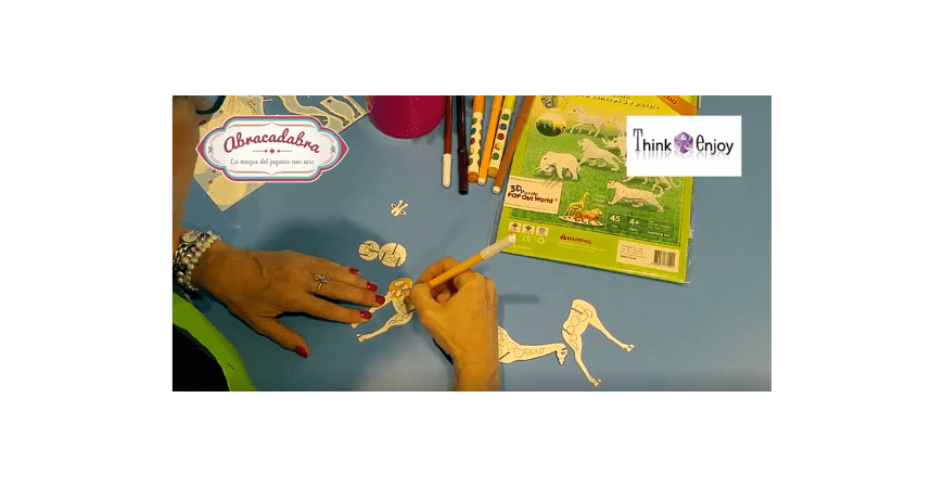 Actividades para niños y niñas Abracadabra 2018   Animales de cartón en 3D