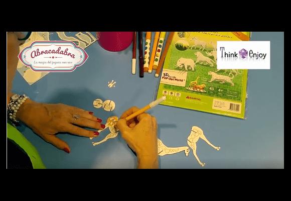 Actividades para niños y niñas Abracadabra 2018 | Animales de cartón en 3D